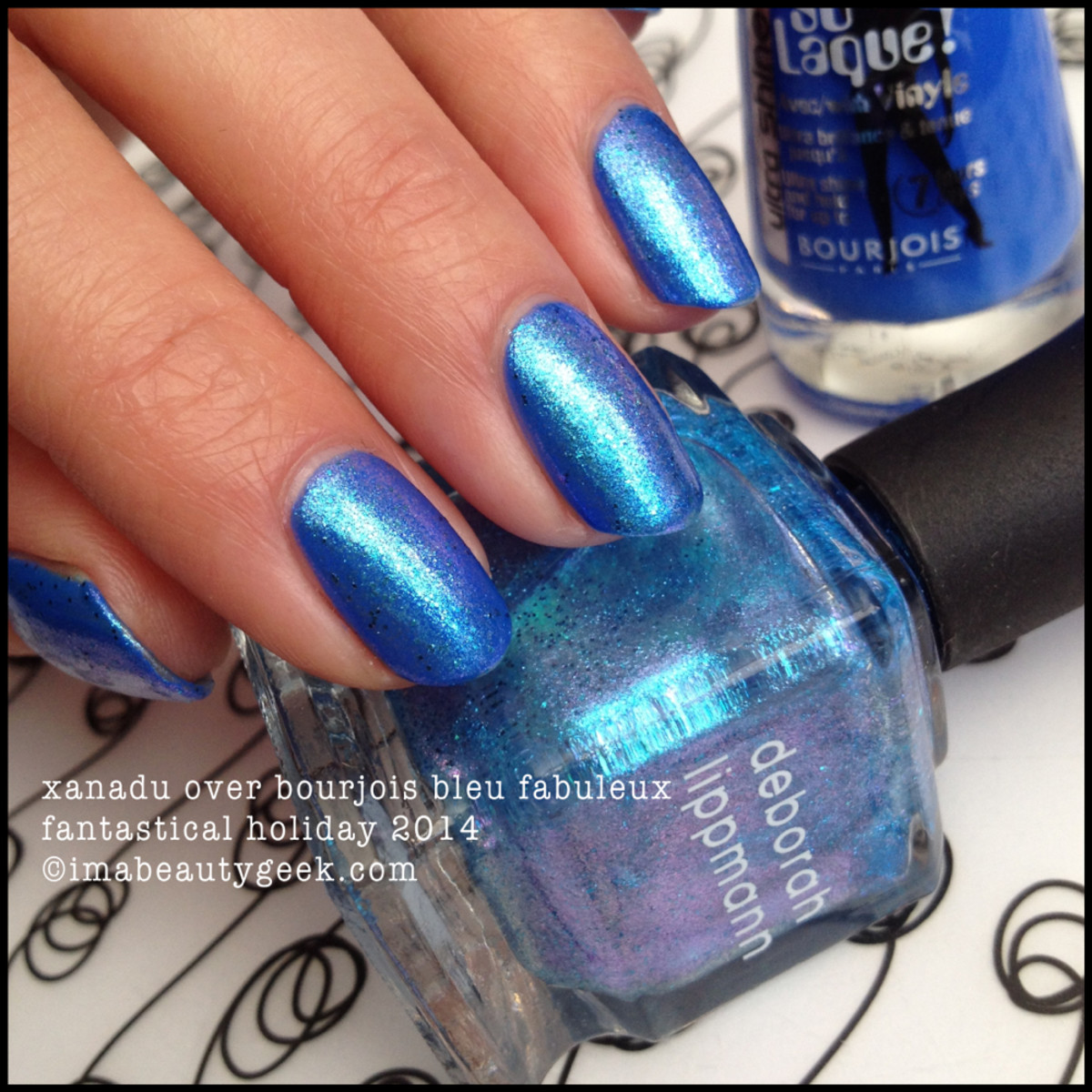 Deborah Lippmann Xanadu over Bleu Fabuleux Fantastical Holiday 2014