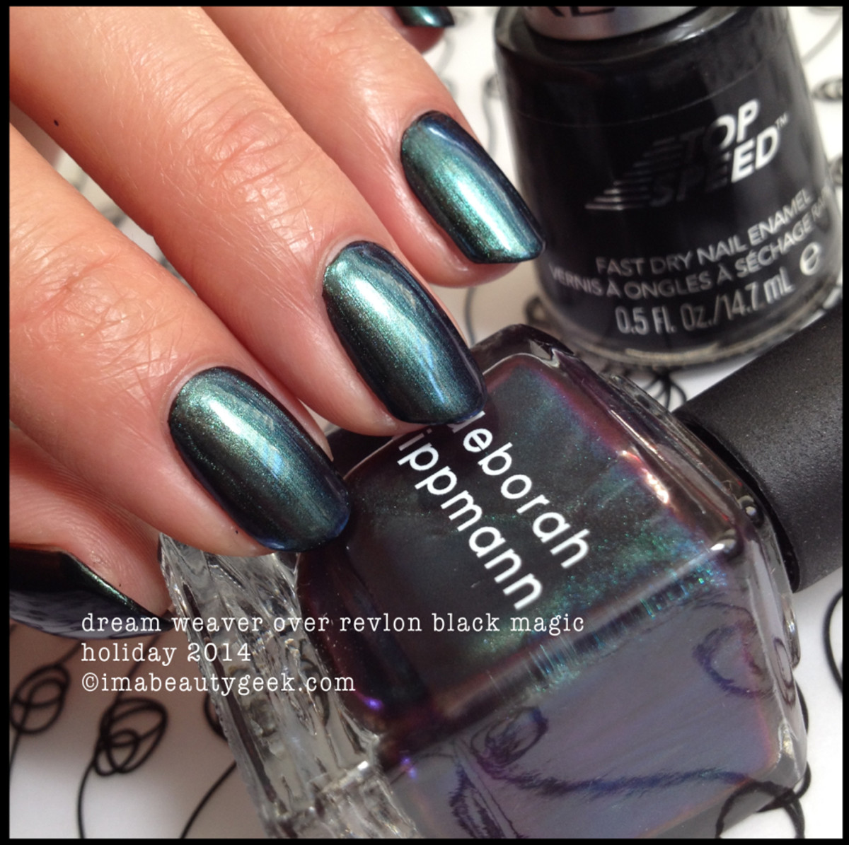 Deborah Lippmann Fantastical Holiday 2014 Dream Weaver over Black