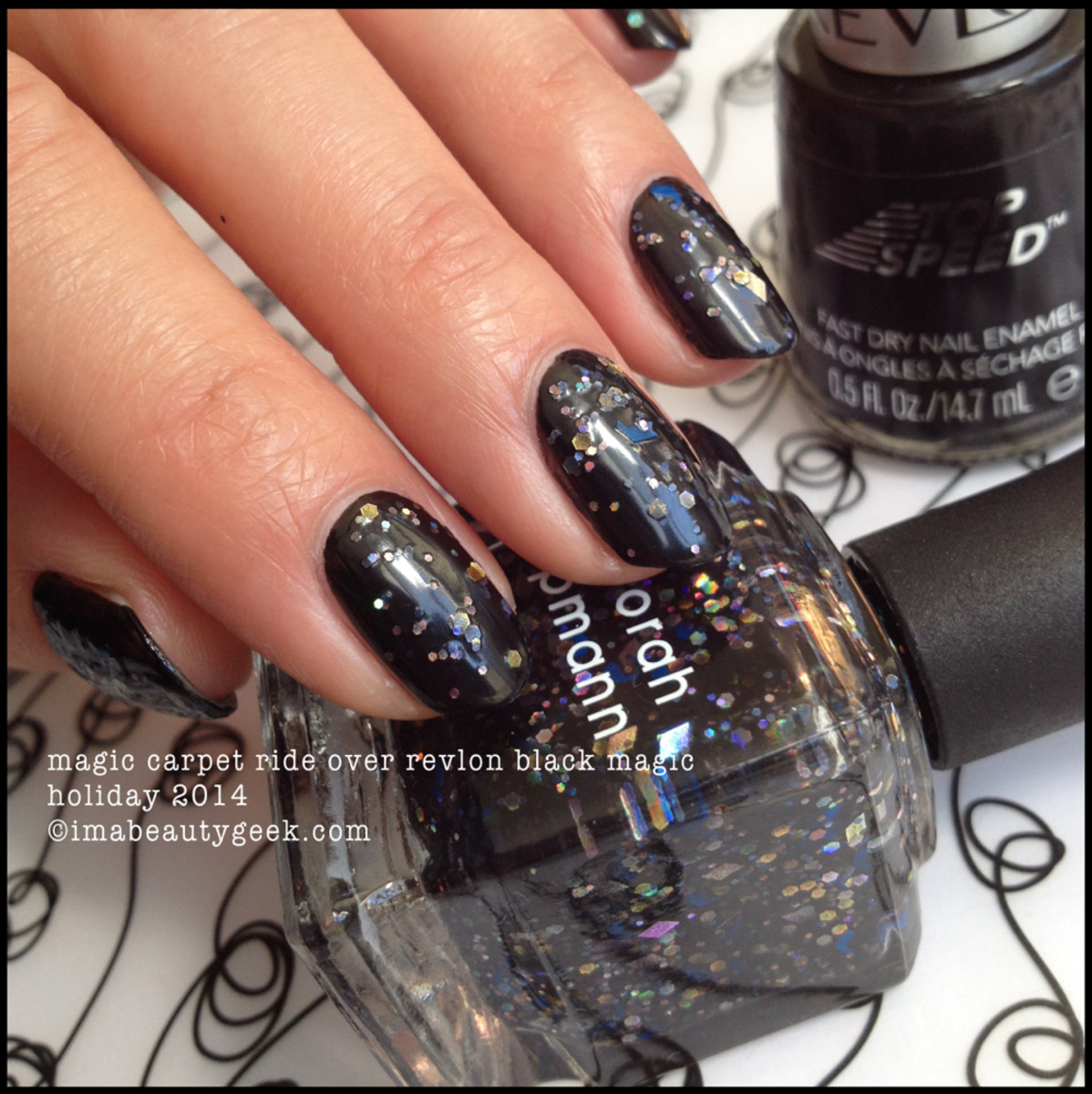 Deborah Lippmann Fantastical Magic Carpet Ride over Black no TC Holiday 2014