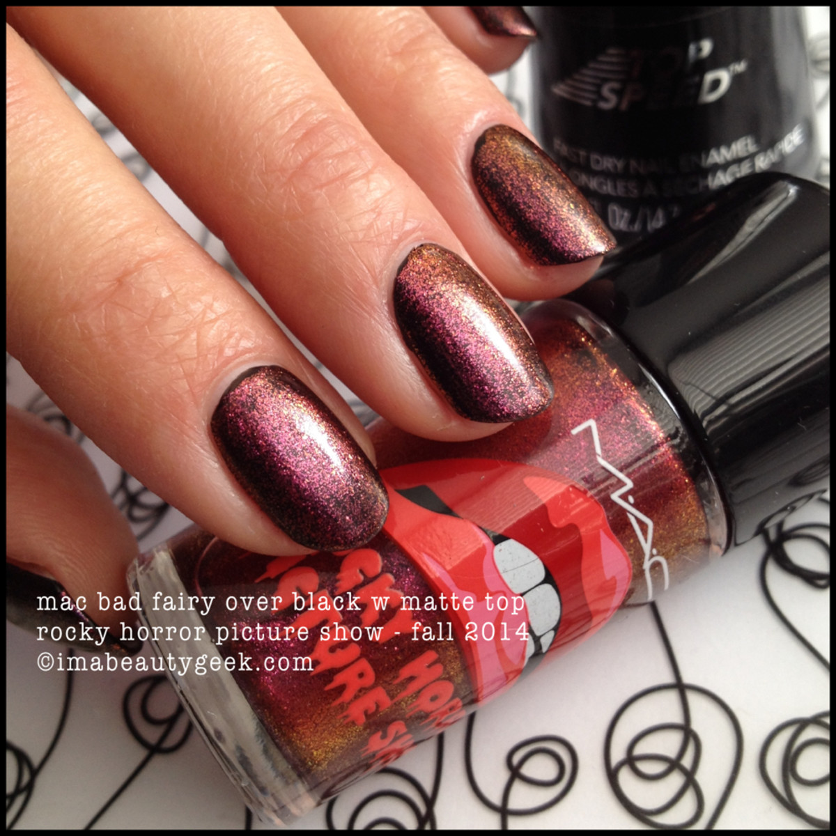 MAC Rocky Horror Picture Show Bad Fairy Polish over Black Fall 2014