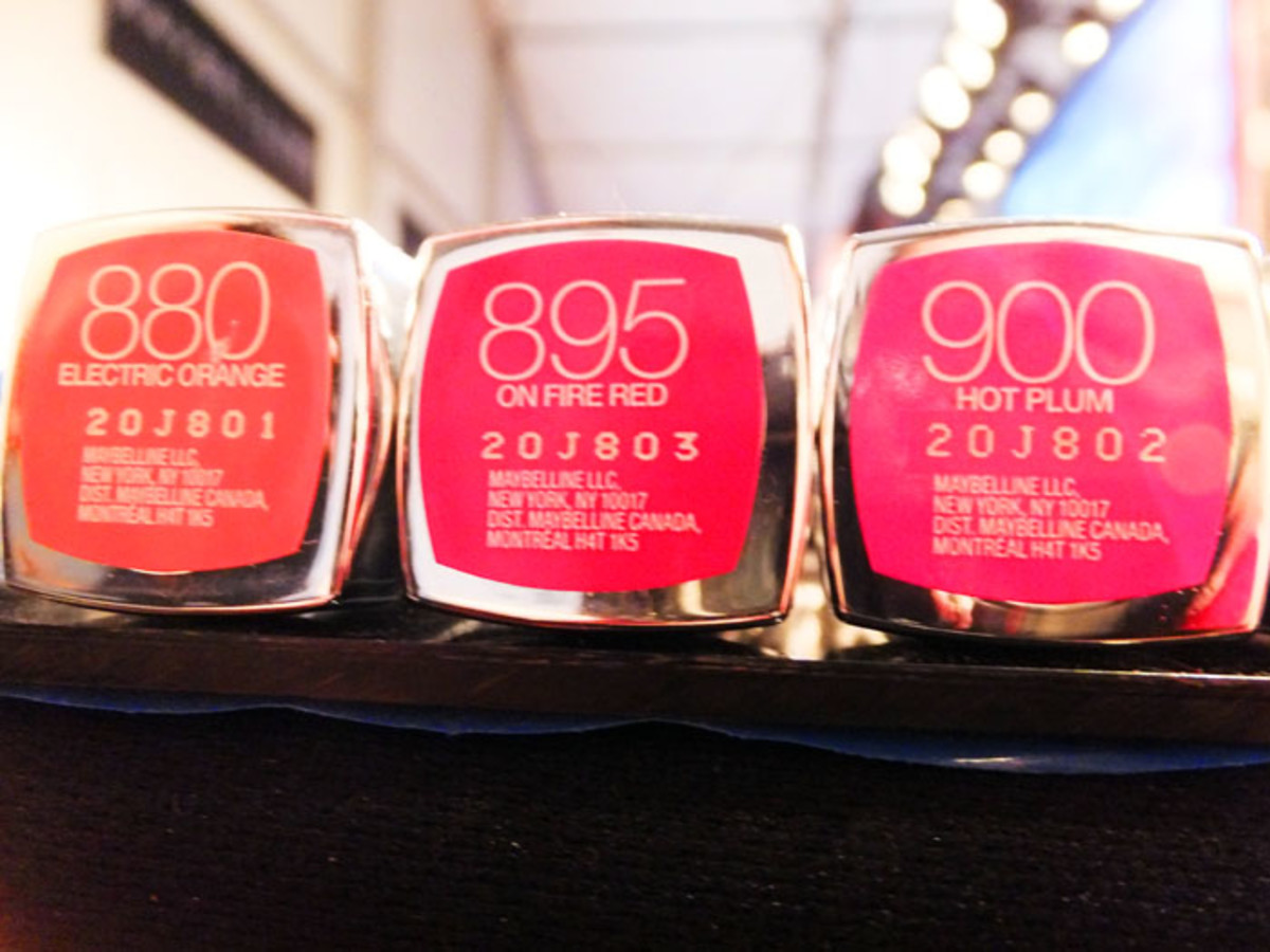 Maybelline Color Sensational Vivids Lipcolor_Electric Orange_On Fire Red_Hot Plum