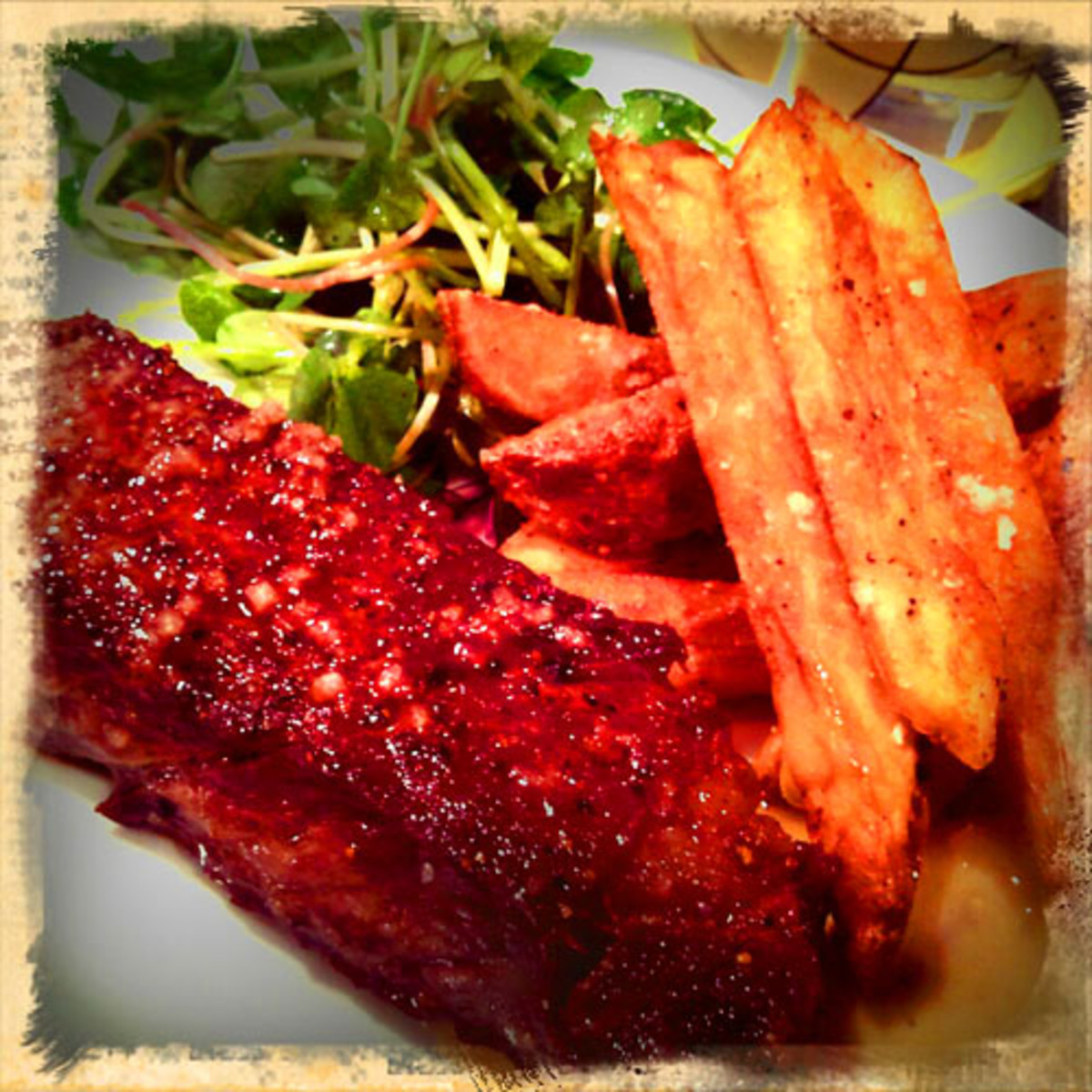 Midnight in Paris_steak frites_homemade fries