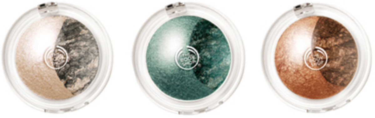 The Body Shop eyeshadow duos -- so baked.