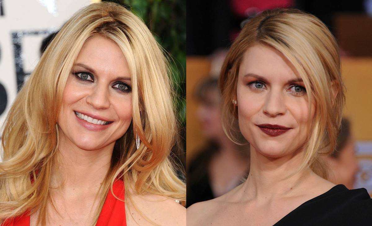 Claire Danes_Golden Globes_SAG Awards_2013_makeup