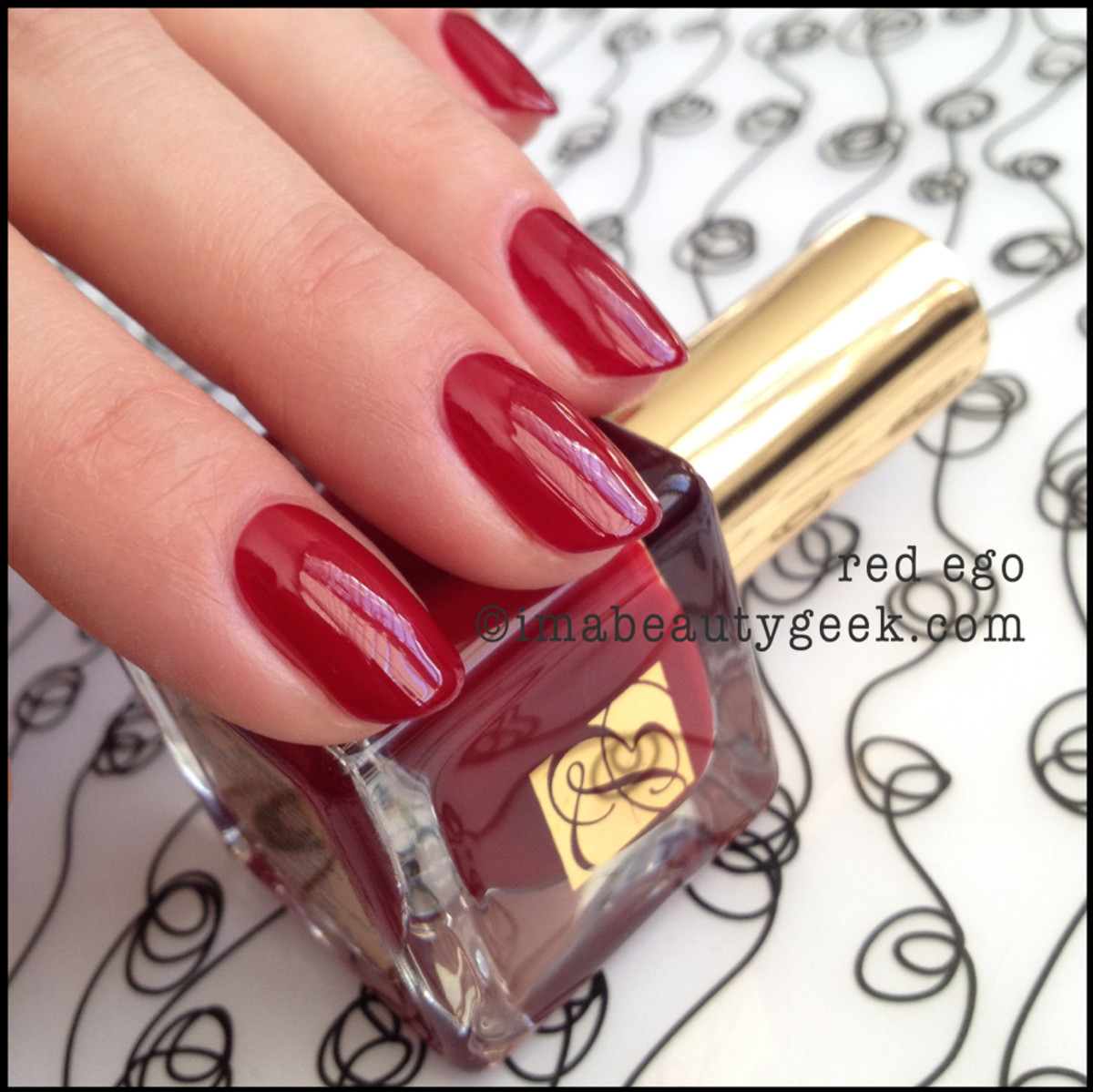 Estee Lauder polish Red Ego