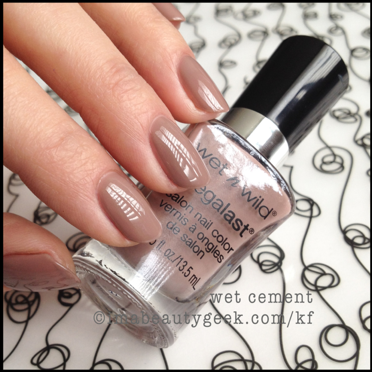 Wet n Wild polish Wet Cement BEAUTYGEEKS