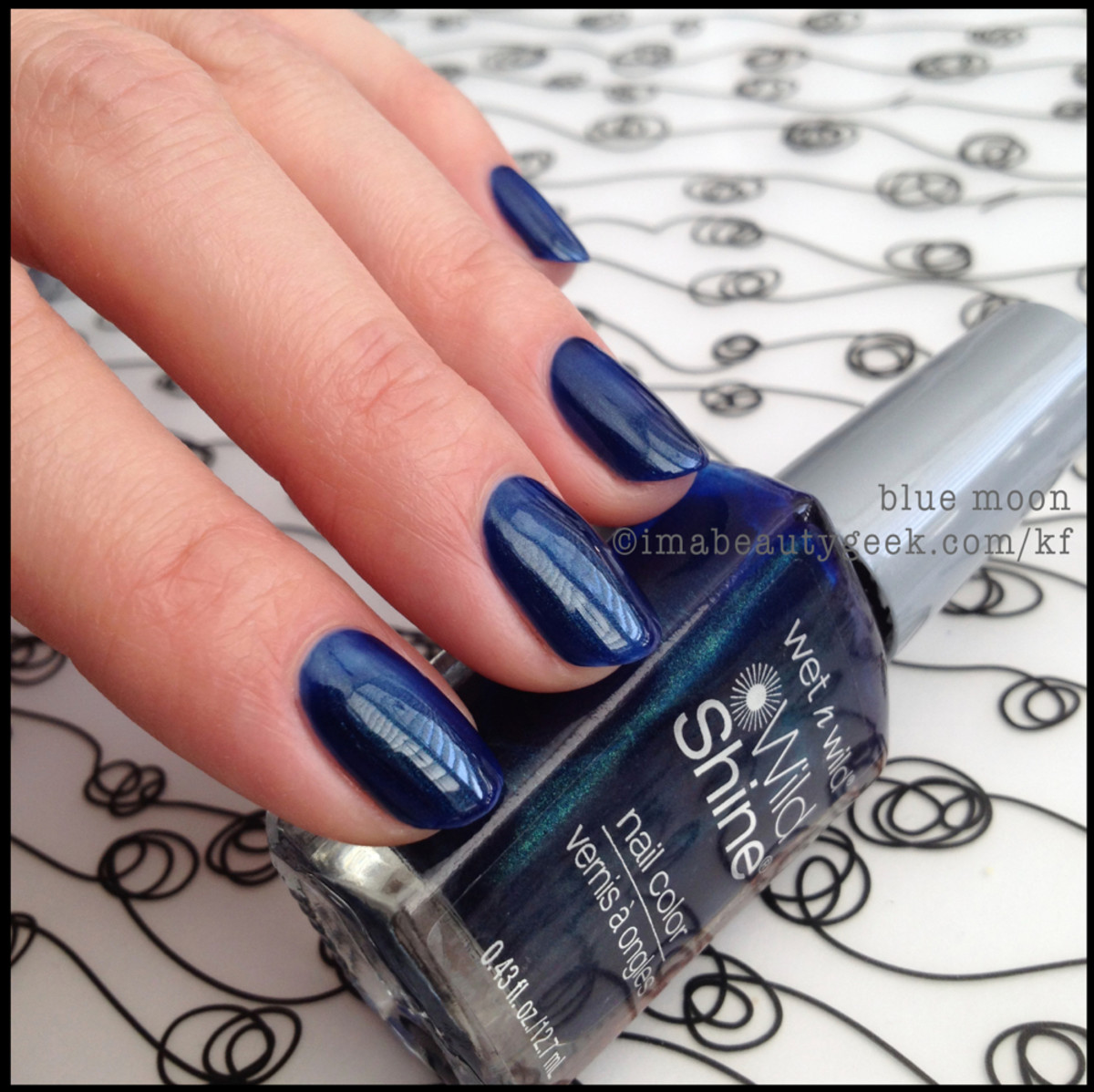 Wet n Wild polish Blue Moon