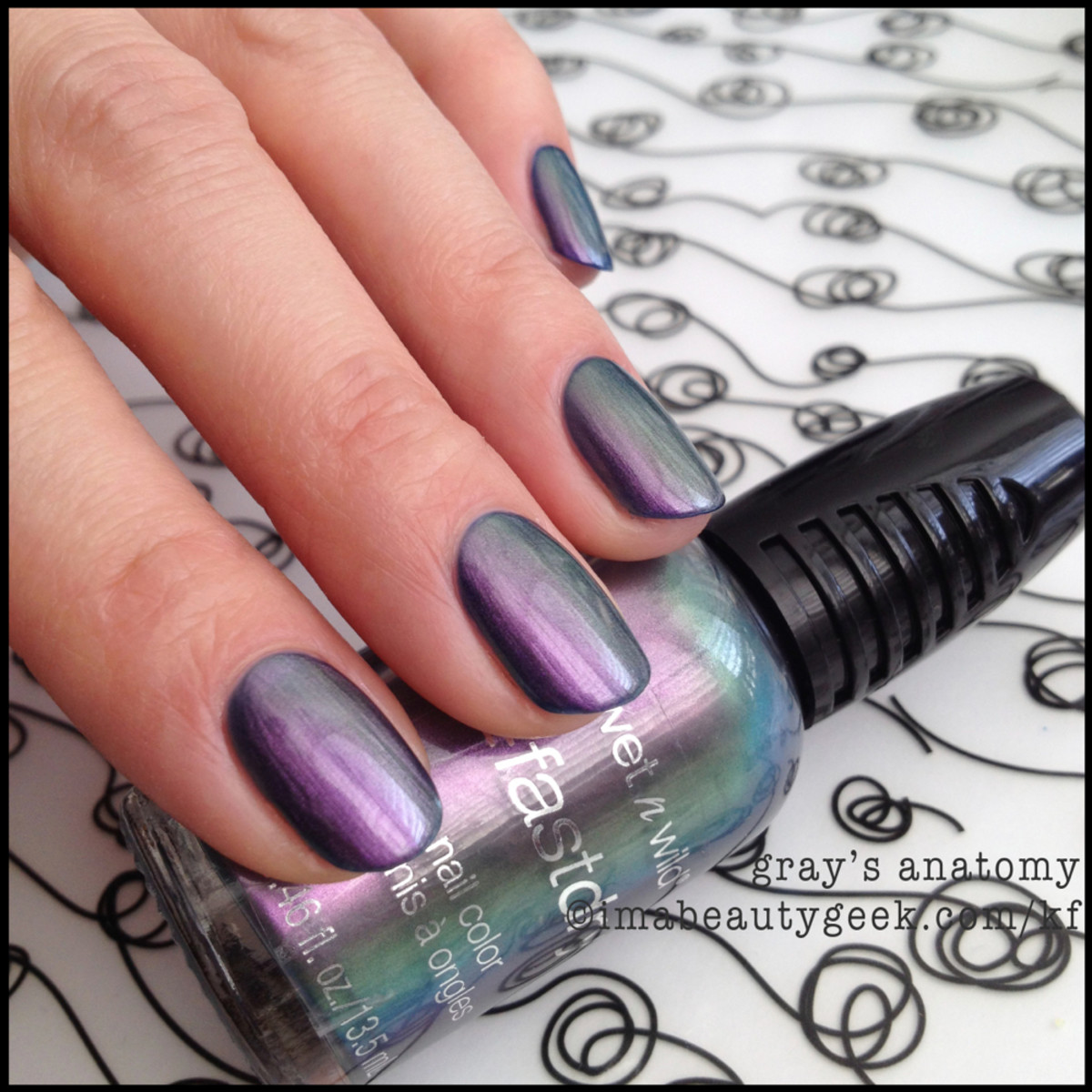 Wet n Wild polish Gray's Anatomy BEAUTYGEEKS
