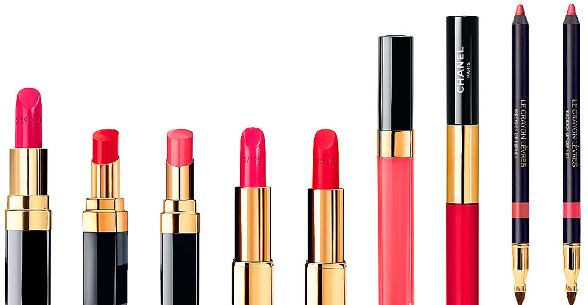 Chanel le Rouge Collection Spring 2014 pink and red shades