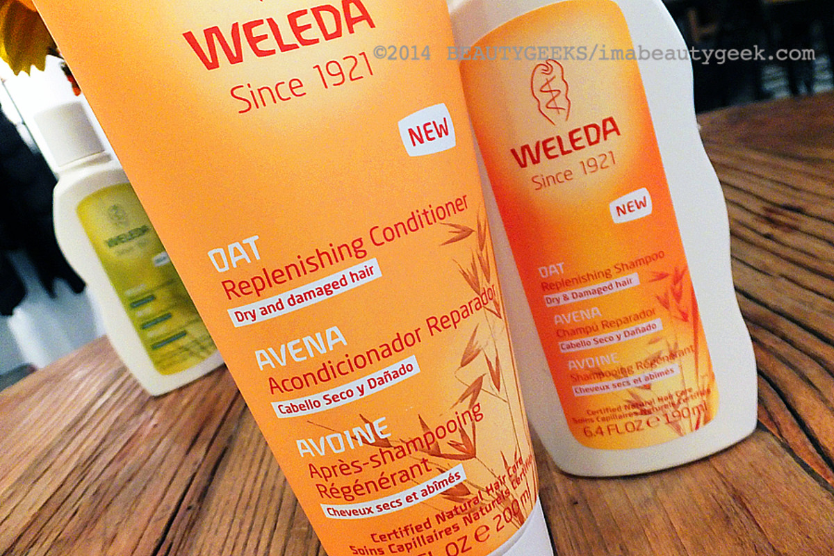 Weleda natural hair care_Weleda Oat Replenishing Shampoo and Conditioner for dry hair