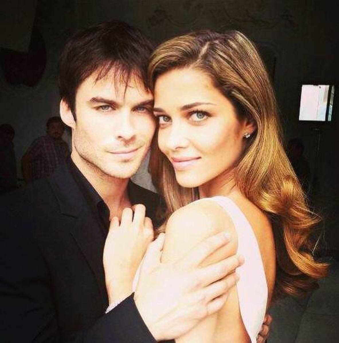 Ian Somerhalder and Ana Beatriz Barros on the set of the Azzaro Pour Homme campaign shoot.