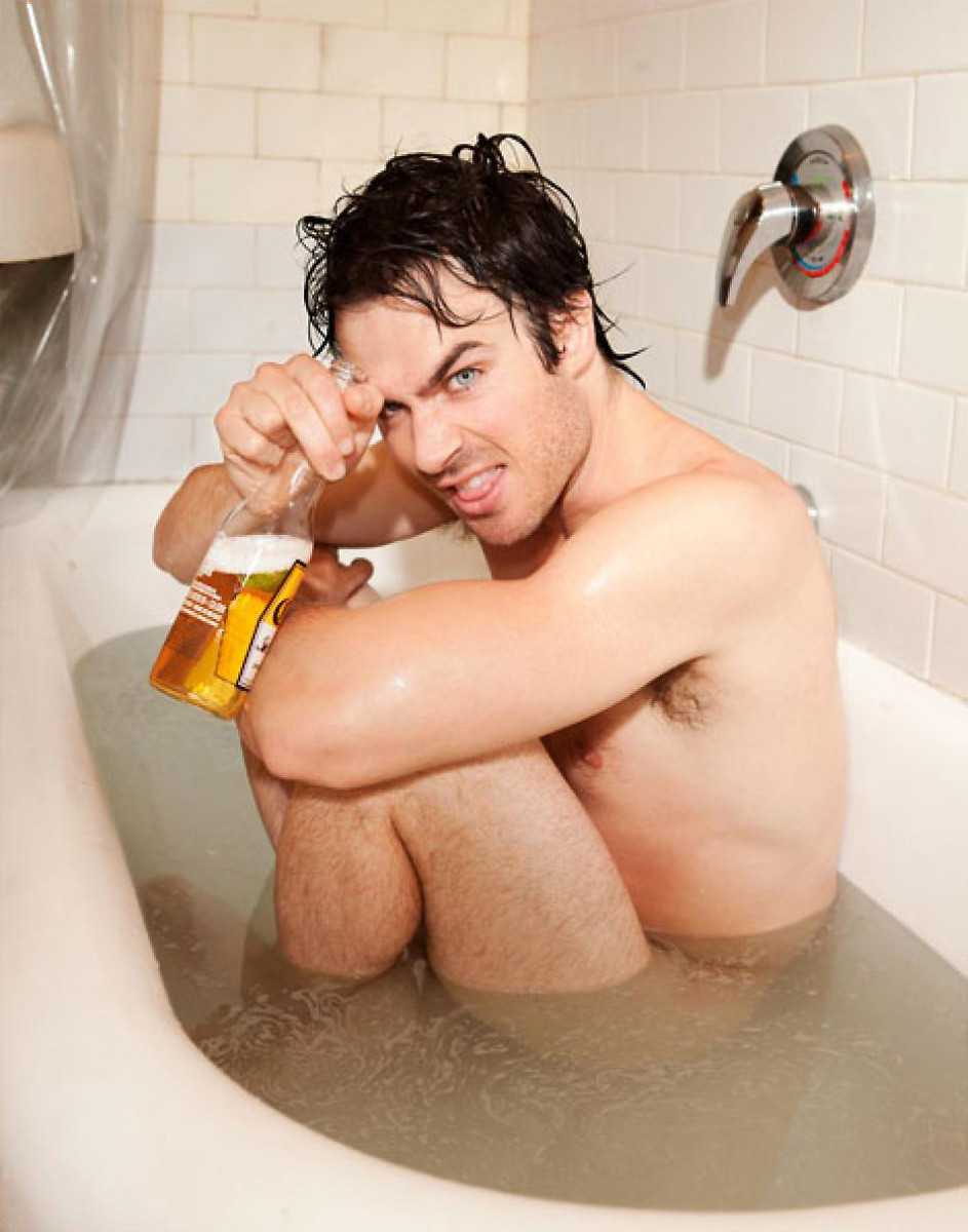 Sure, I'll have a Corona in the bath with you, Ian Somerhalder.