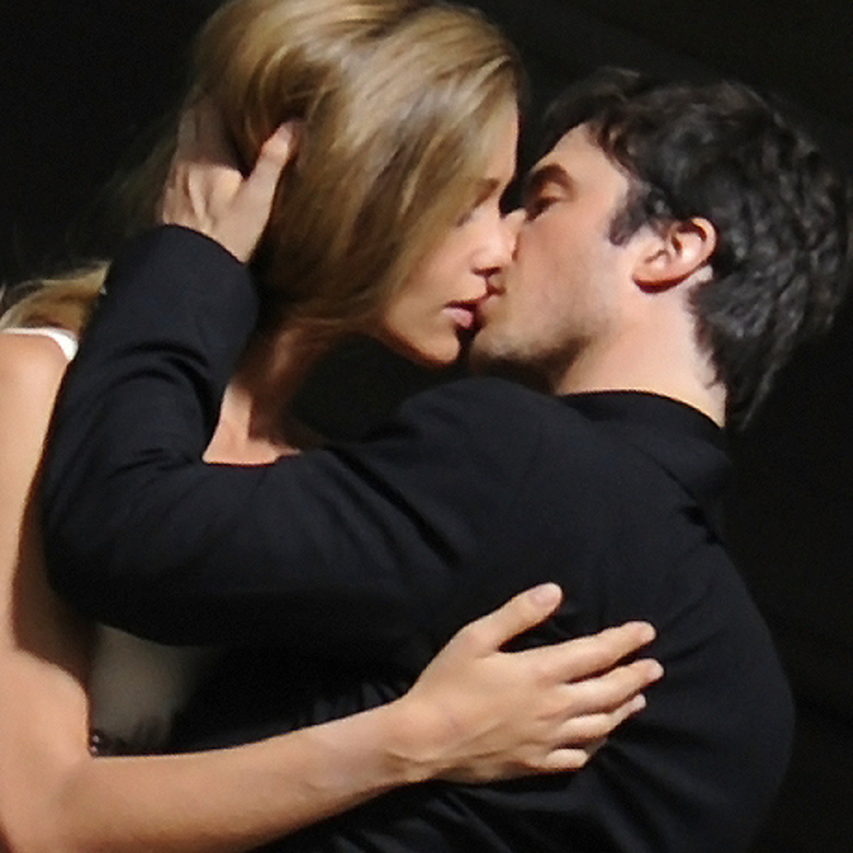 An Ian Somerhalder lip-lock for Ana Beatriz Barros on the set of the Azzaro Pour Homme shoot.