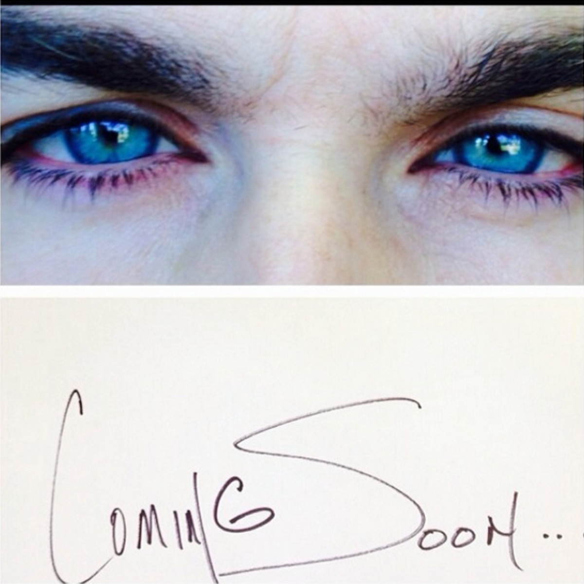 Ian Somerhalder teases the coming Azzaro campaign with Blue Steel via his Instagram feed.