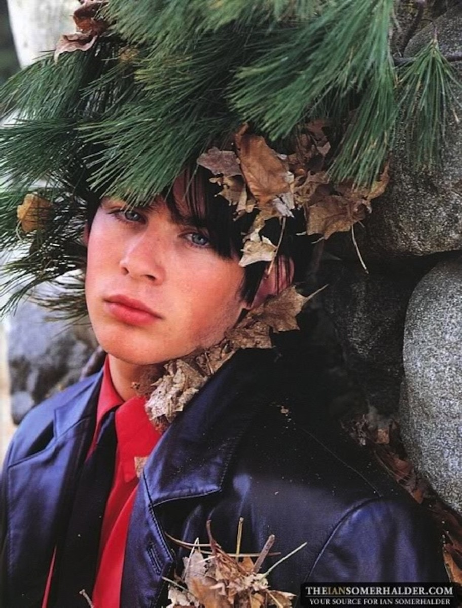 Ian Somerhalder, Versace, 1995 -- into the woods or what??