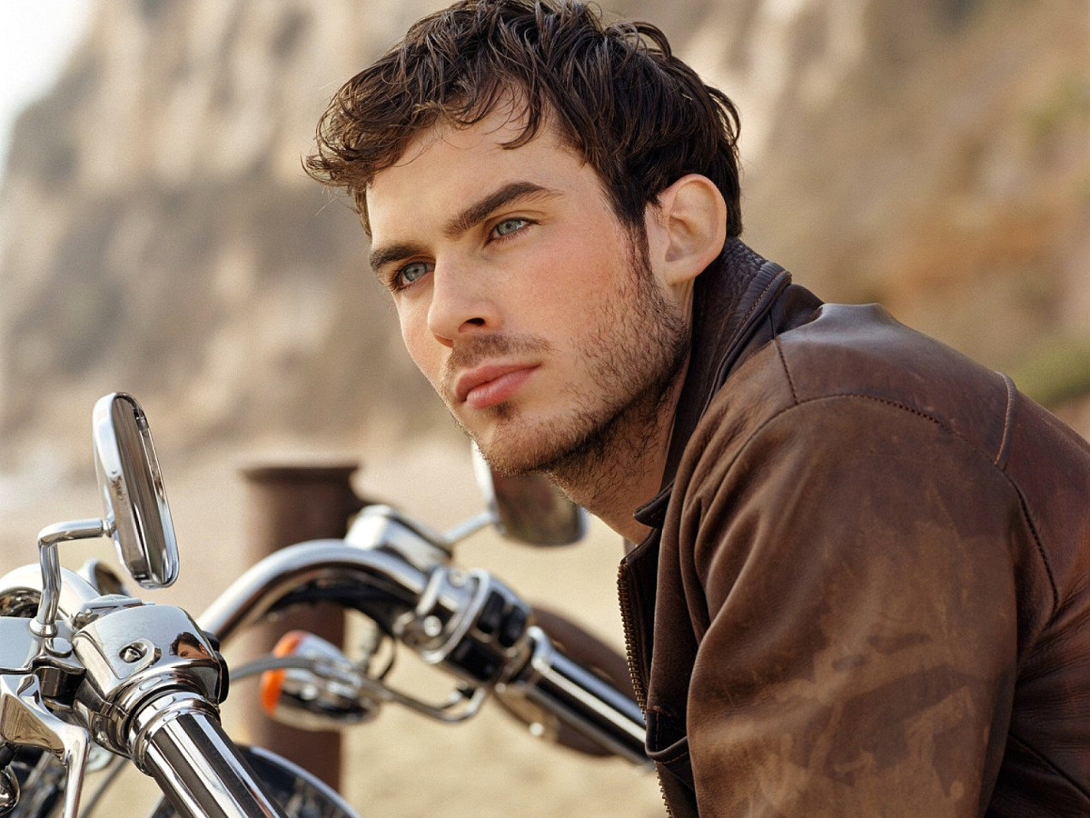 Got room for a passenger on that bike, Ian Somerhalder? Of course you do.