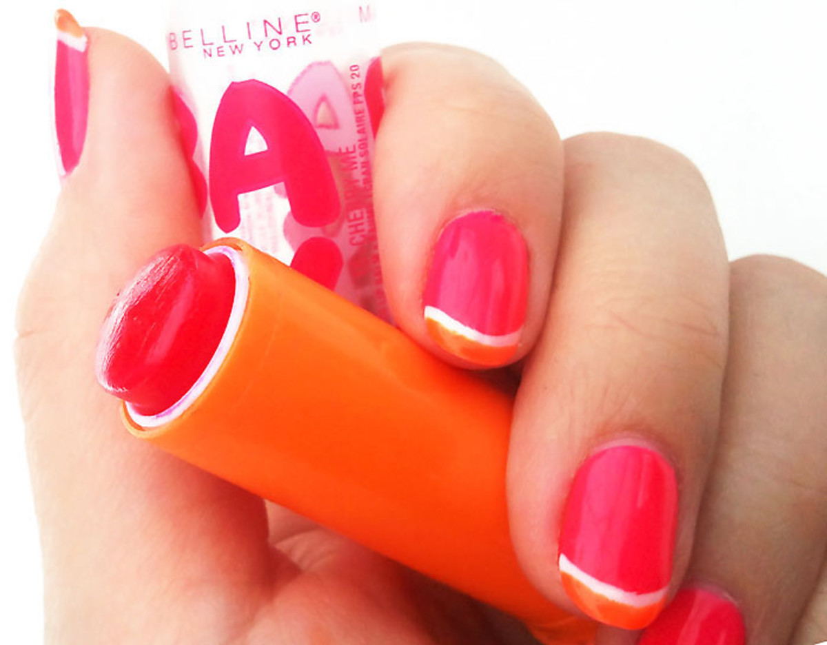 Maybelline NY Baby Lips in Cherry Me manicure_not on purpose