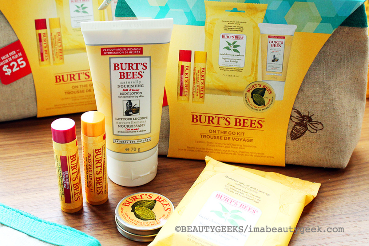 Burt's Bees Holiday 2014_Burt's Bees On the Go Kit with makeup case
