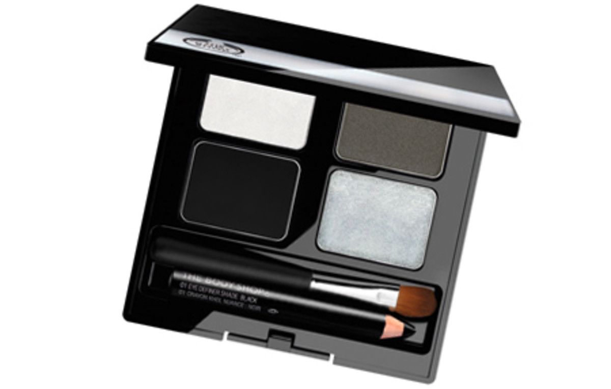 The Body Shop 4-Step Smoky Eye Palette in Silver Black