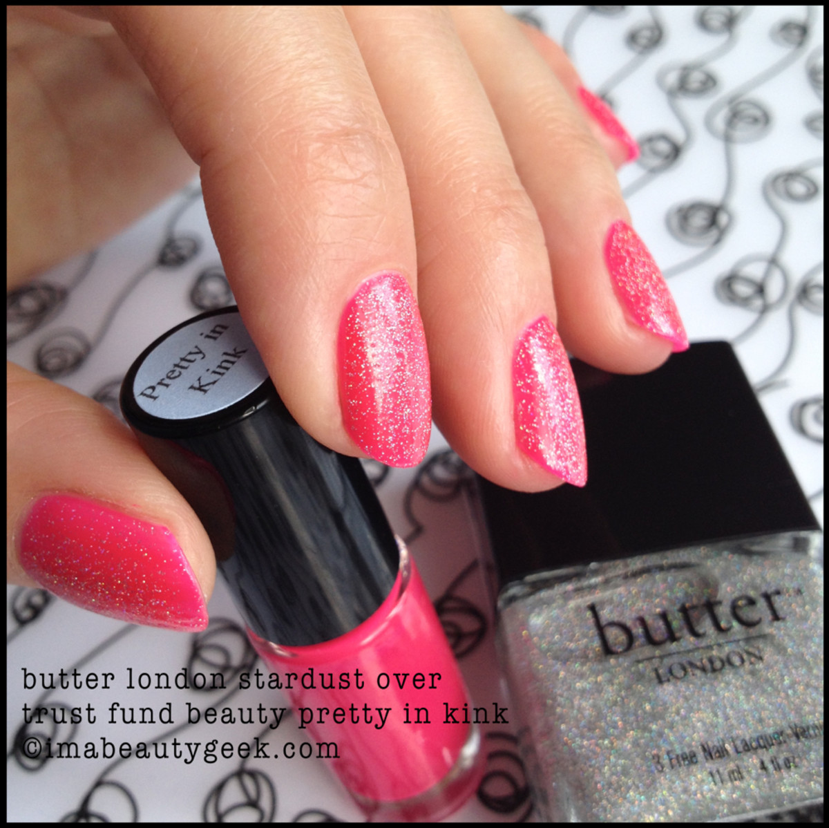 Trust Fund Beauty Pretty in Kink w Butter London Stardust