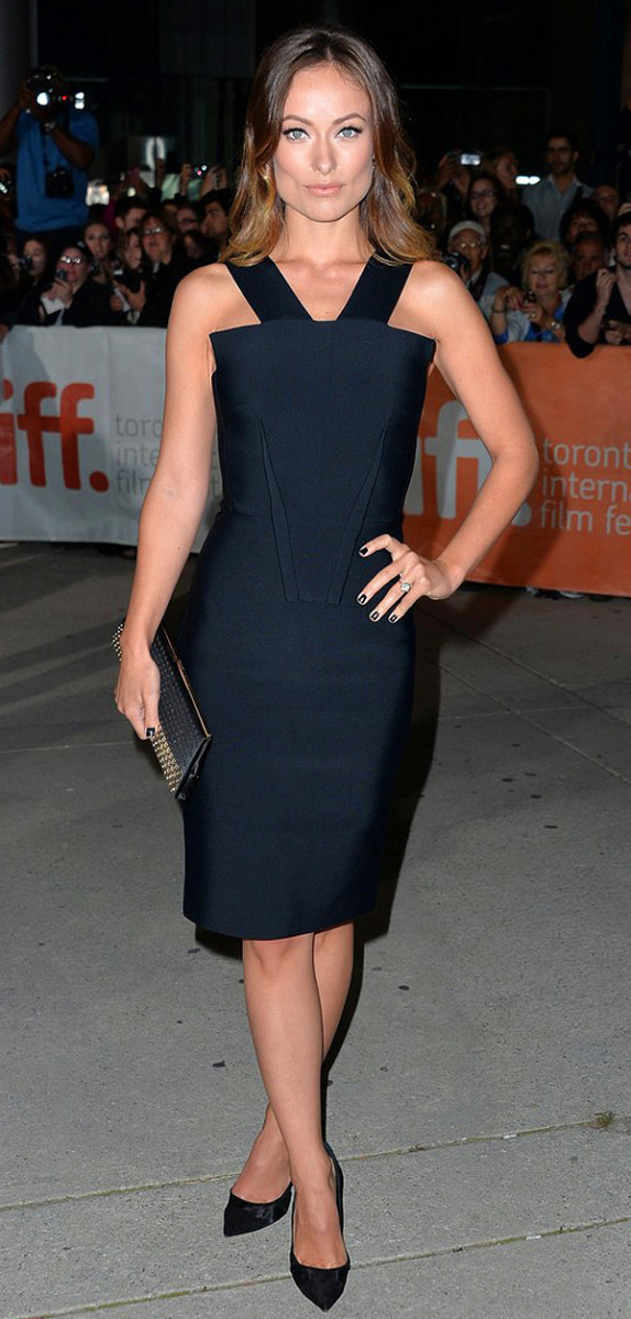 Olivia Wilde TIFF 2013_makeup Melanie Inglessis for Revlon_dress Roland Mouret_Rush Premiere