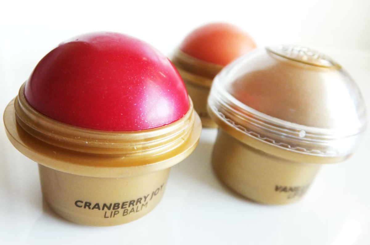 The Body Shop Cranberry Joy lip balm_Vanilla Bliss_Ginger Sparkle