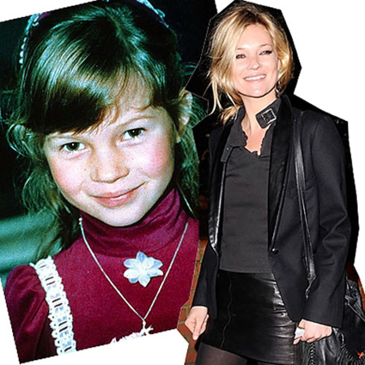 Kate Moss before and after