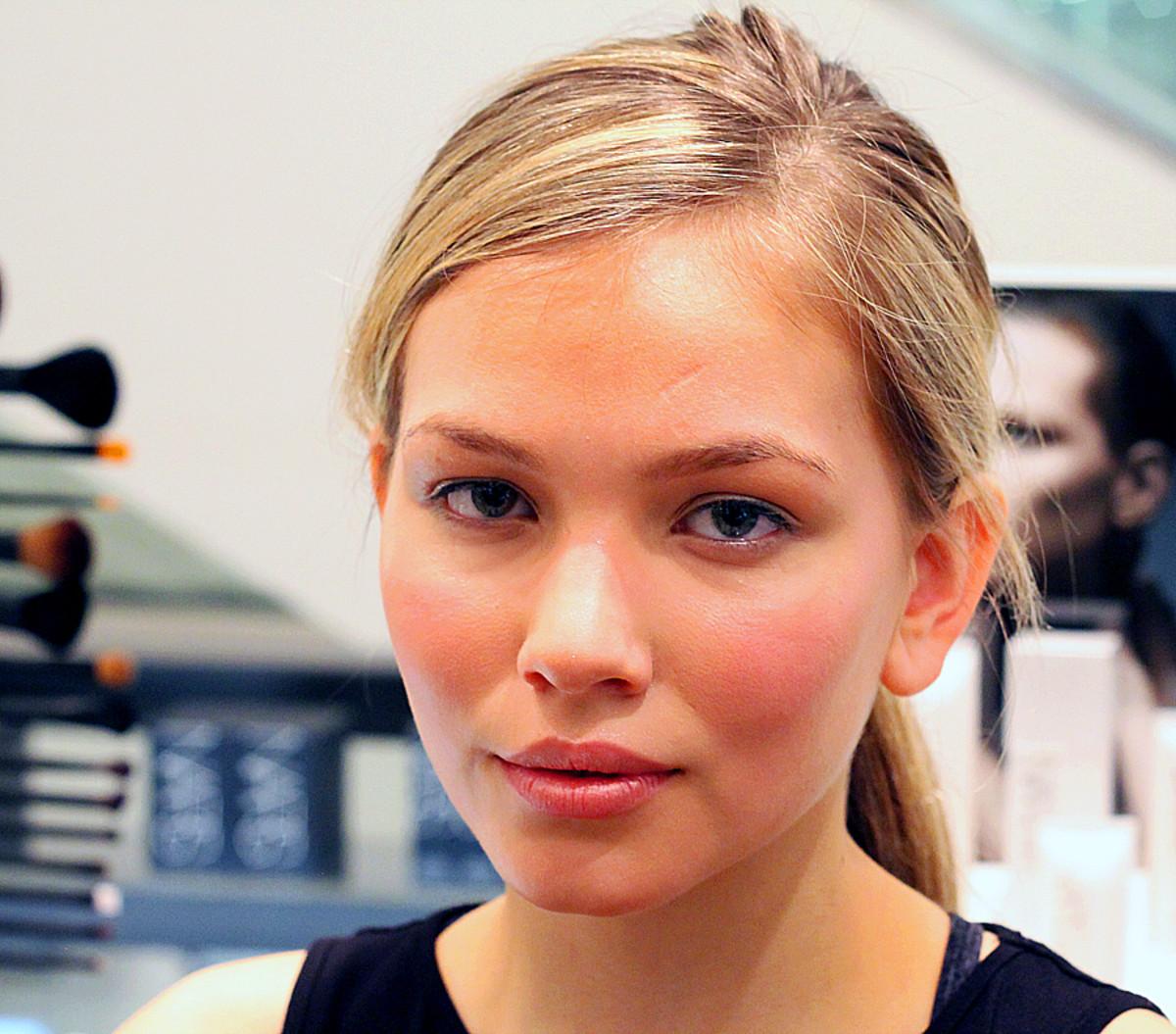 Summer sunburned cheeks (but not really) on model Niki