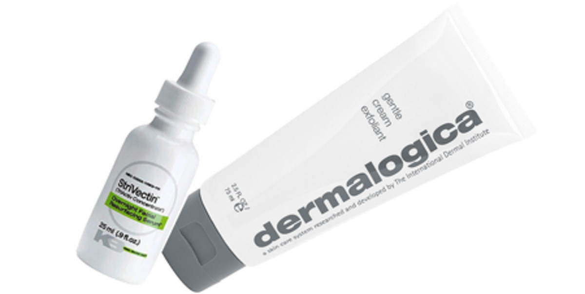 StriVectin Overnight Facial Resurfacing Serum, Dermalogica Gentle Cream Exfoliant