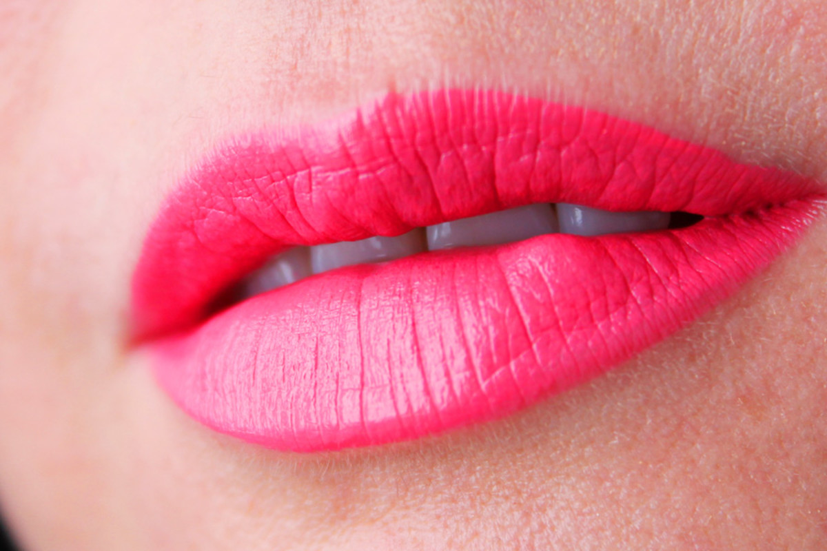Joe Fresh Liquid Lipstick Grapefruit swatch