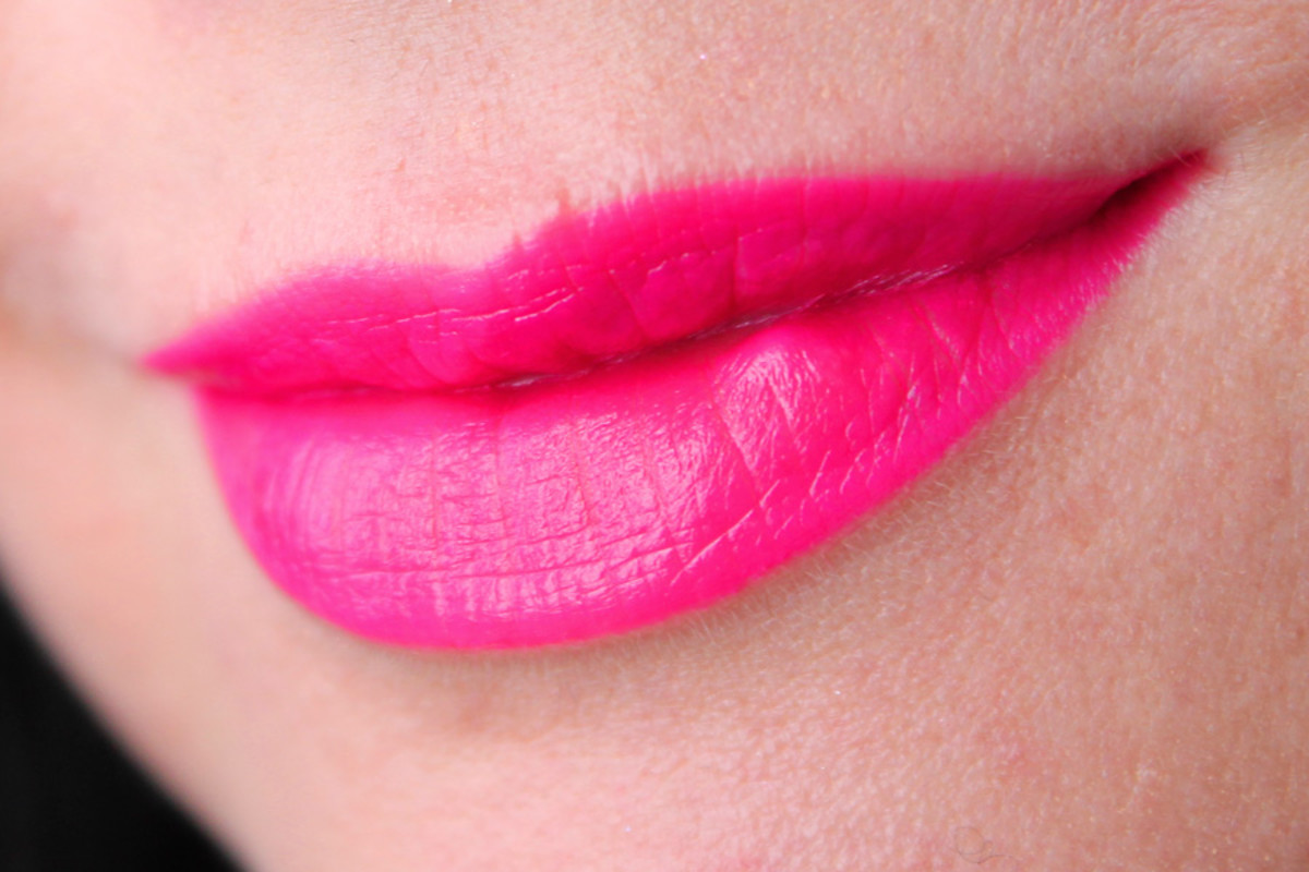 Joe Fresh Liquid Lipstick Fuchsia swatch