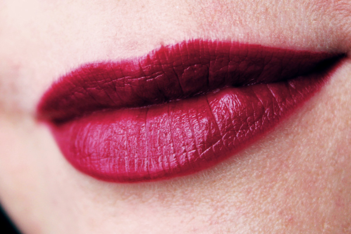 Joe Fresh Liquid Lipstick Plum swatch