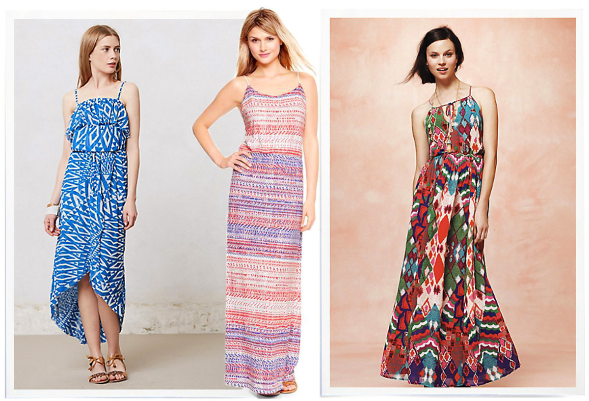 Maxi dresses to wear with a Chinese sun hat