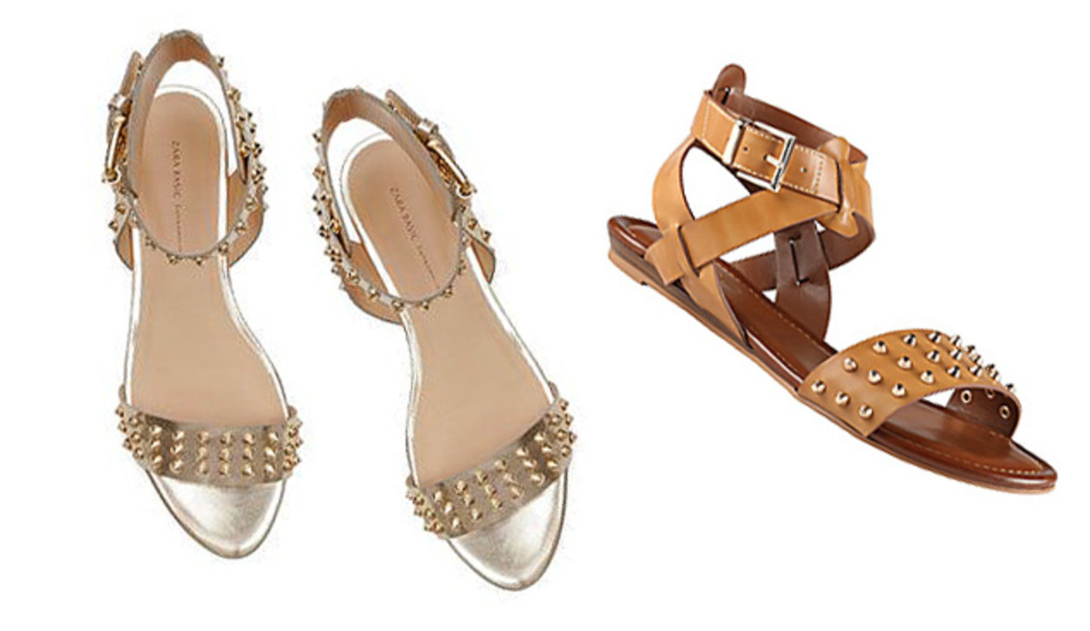 studded summer sandals_Zara on left_Aldo on right