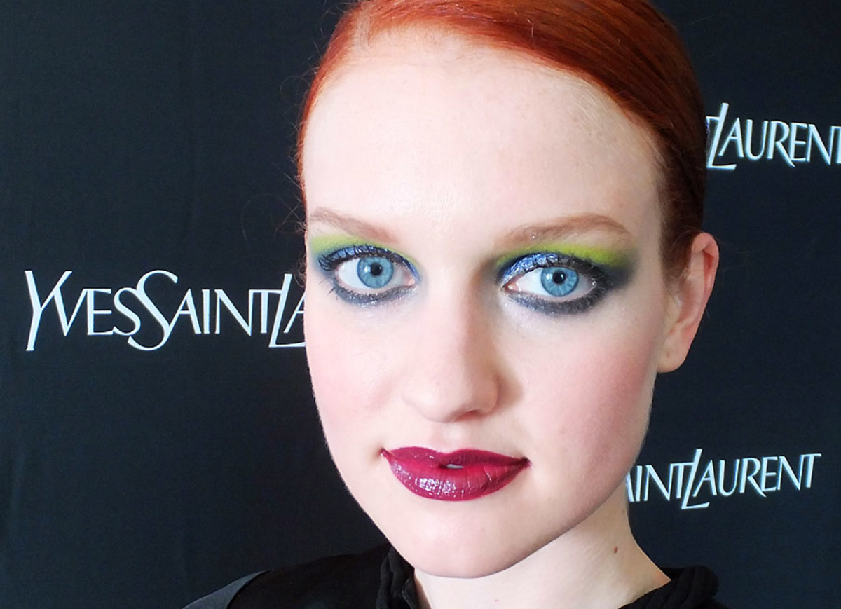 YSL Fall 2013 makeup_Palette City Drive Arty_on model