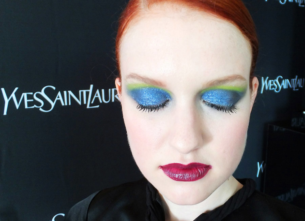 YSL Fall 2013 makeup_Palette City Drive Arty_on model_closed eyes