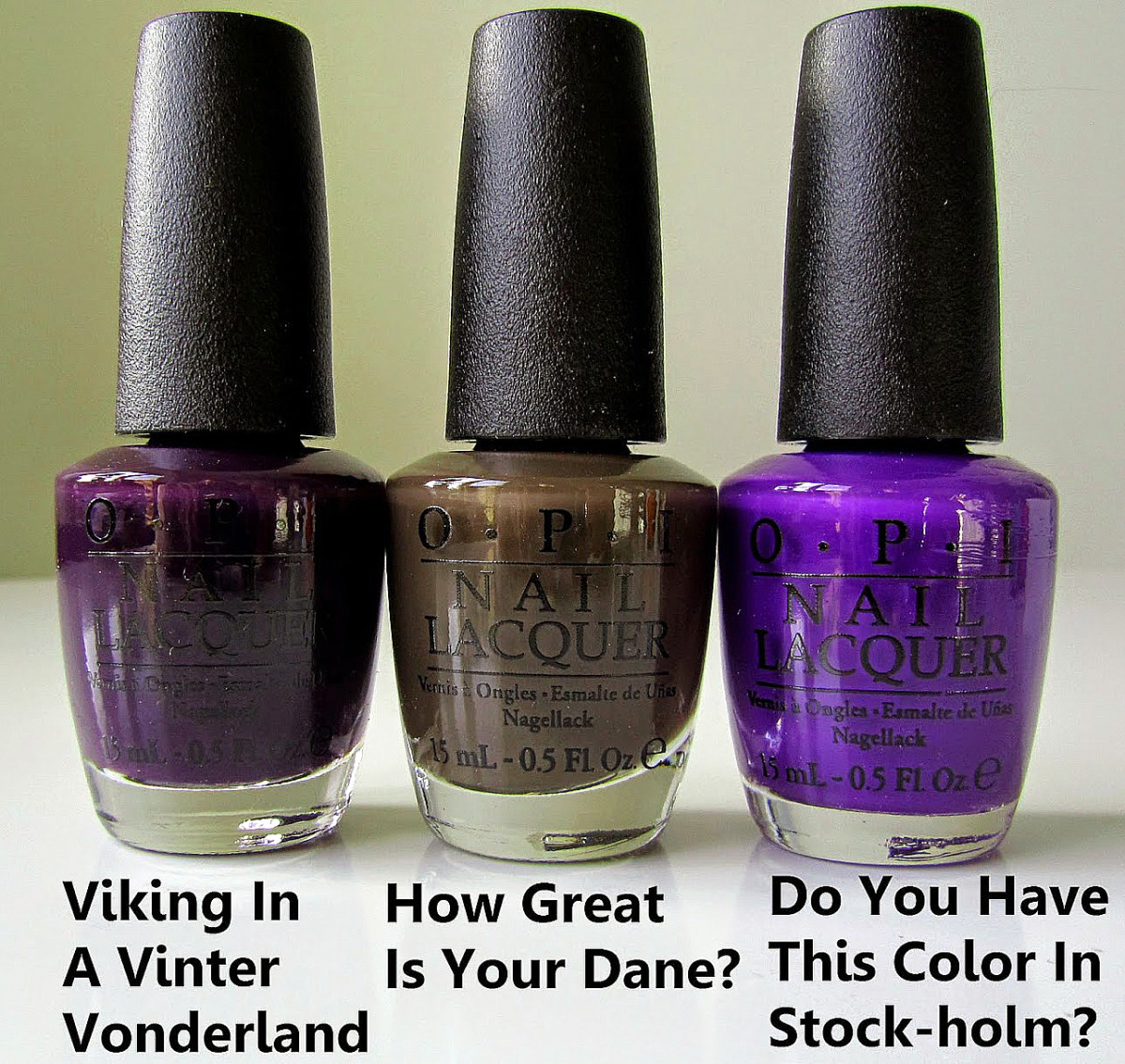 OPI Nordic collection_Fall Winter 2014_Viking in Vinter Vonderland_How Great is Your Dane_Do You Have This Color in Stock-holm