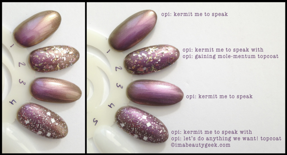 OPI Kermit Me To Speak with Topcoats