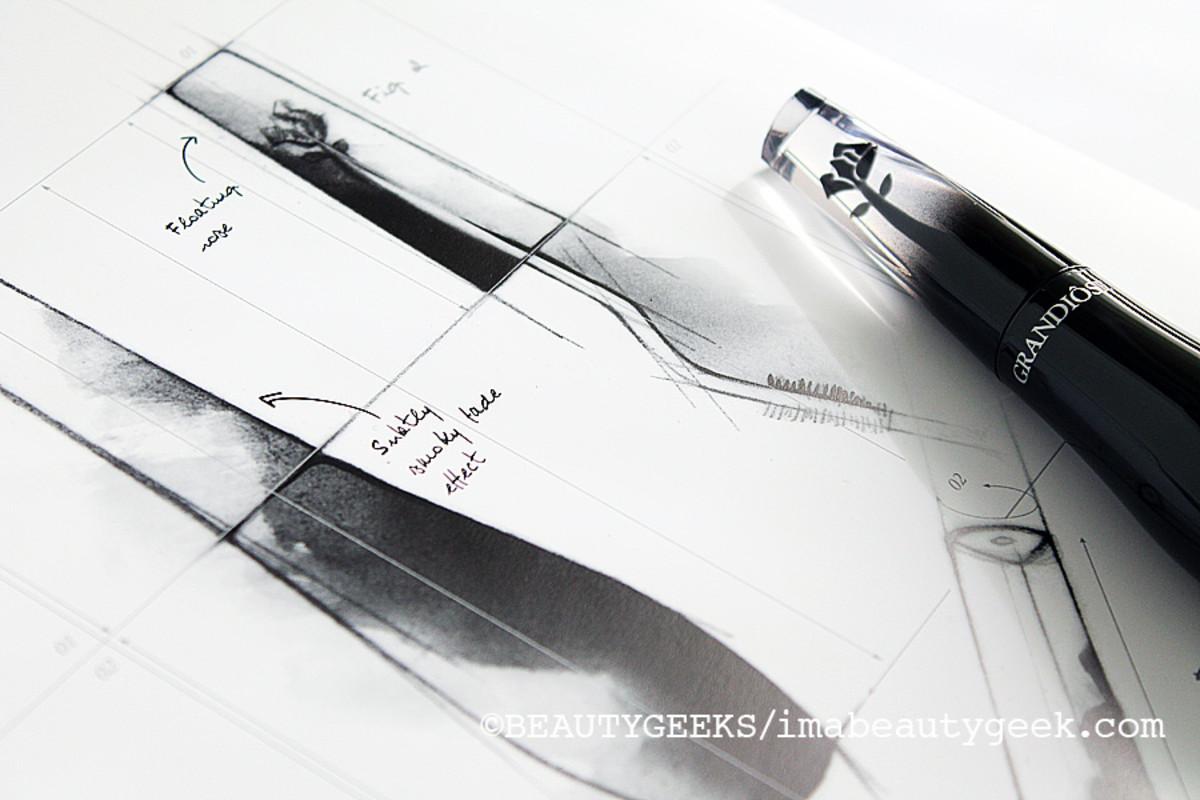 Lancome Grandiose mascara_bottle sketches