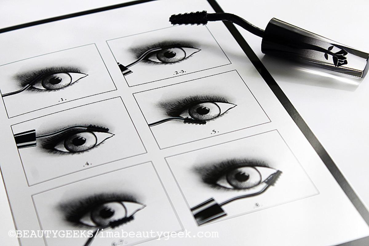 Lancome Grandiose mascara_application sketches
