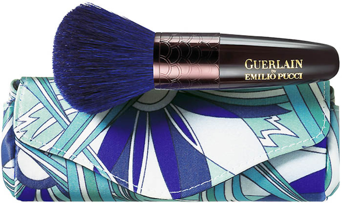 Guerlain Pucci Kabuki Brush and Pouch