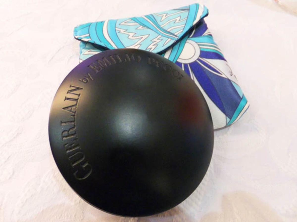 Guerlain Pucci Terra Azzurra Bronzing Powder & Blush wood compact