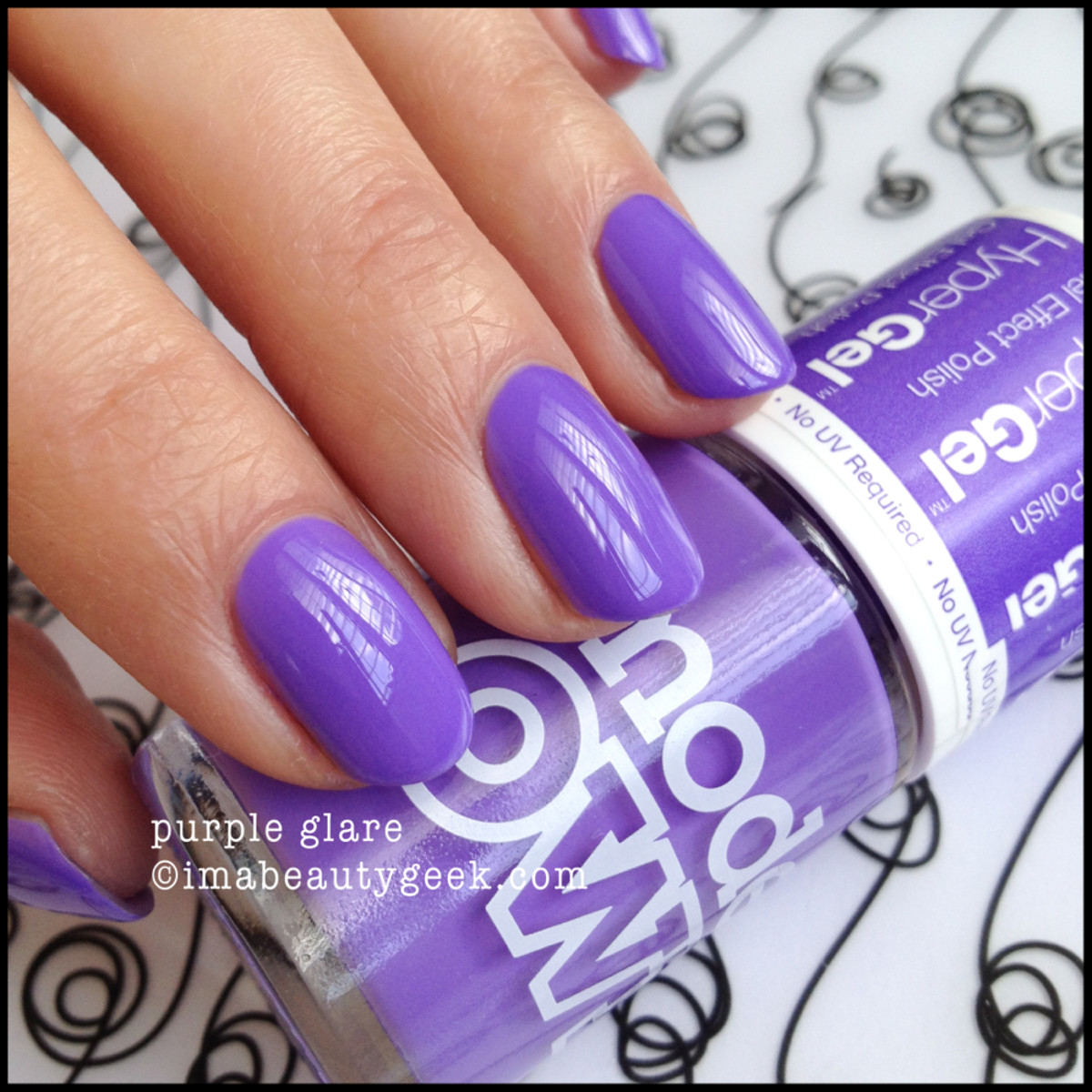 Models Own Polish Purple Glare HyperGel