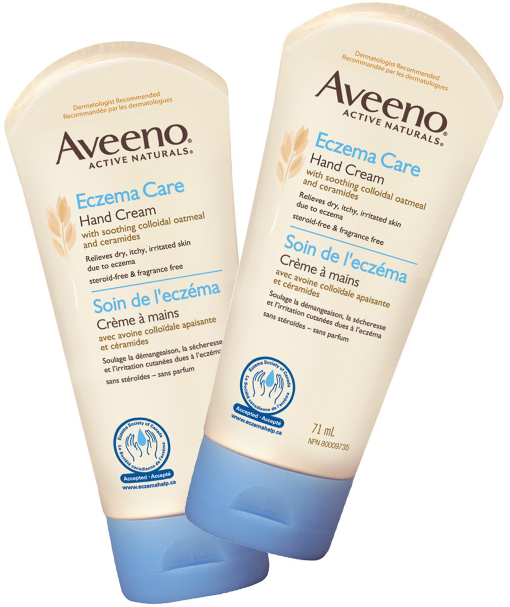 Aveeno Eczema Care hand cream tubes
