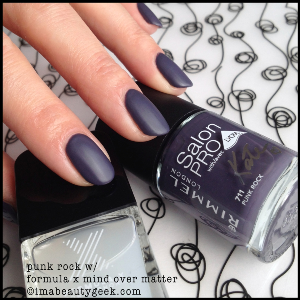 Rimmel Polish Punk Rock w Matte Top Coat