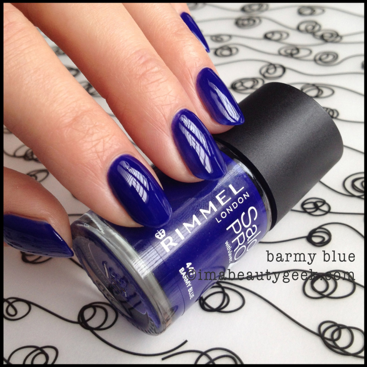 Rimmel Polish Barmy Blue Spring 2014