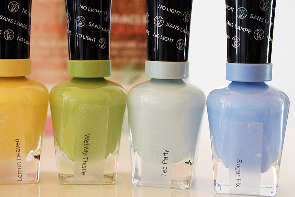 Sally Hansen Miracle Gel_Lemon Heaven_Wet My Thistle_Tea Party_and Sugar Fix
