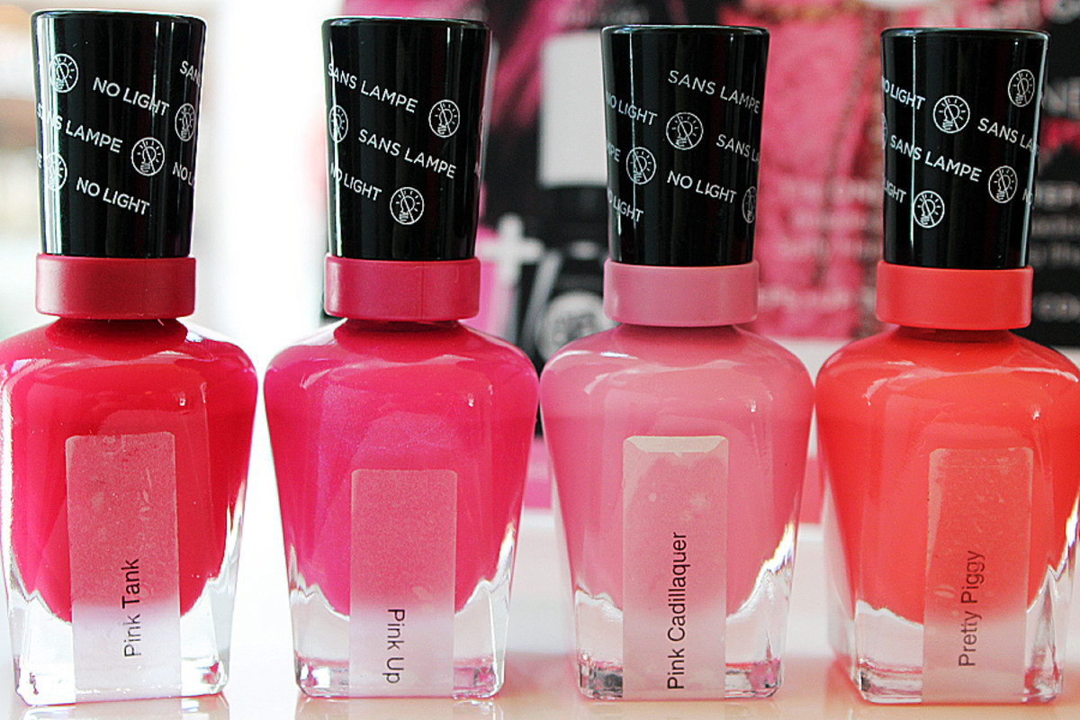 Sally Hansen Miracle Gel_Pink Tank_Pink Up_Pink Cadillaquer_Pretty Piggy