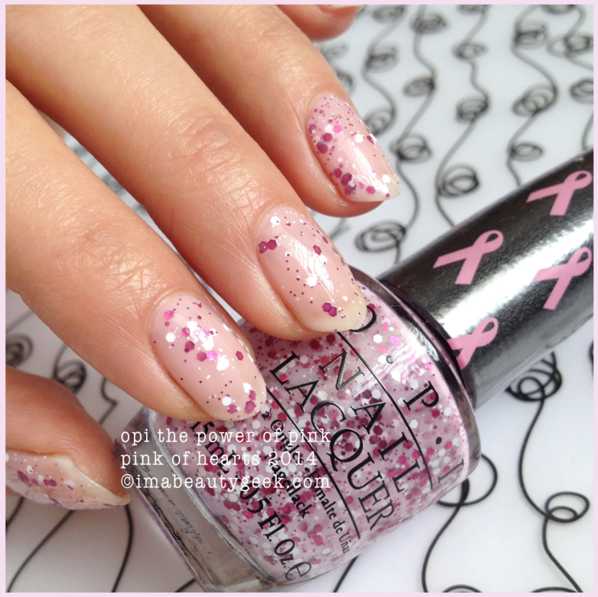 OPI The Power of Pink of Hearts 2014 BCA