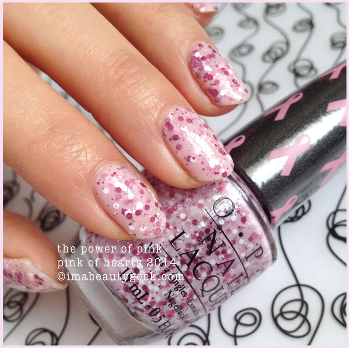 OPI The Power of Pink BCA Pink of Hearts 2014